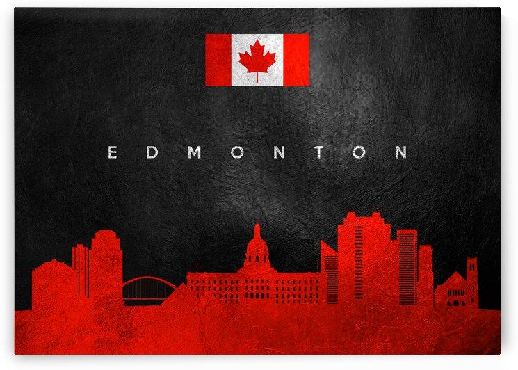 Edmonton Canada Skyline Wall Art by ABConcepts