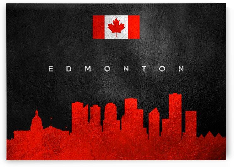 Edmonton Canada Skyline 2 Wall Art by ABConcepts
