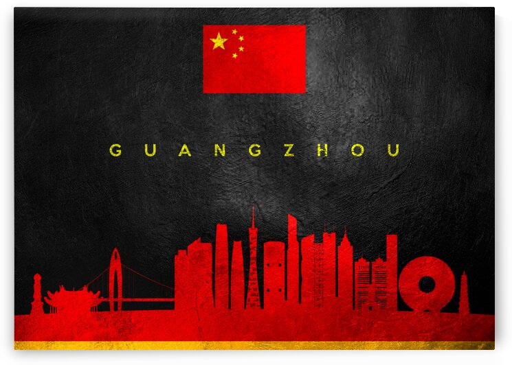 Guangzhou China Skyline Wall Art by ABConcepts