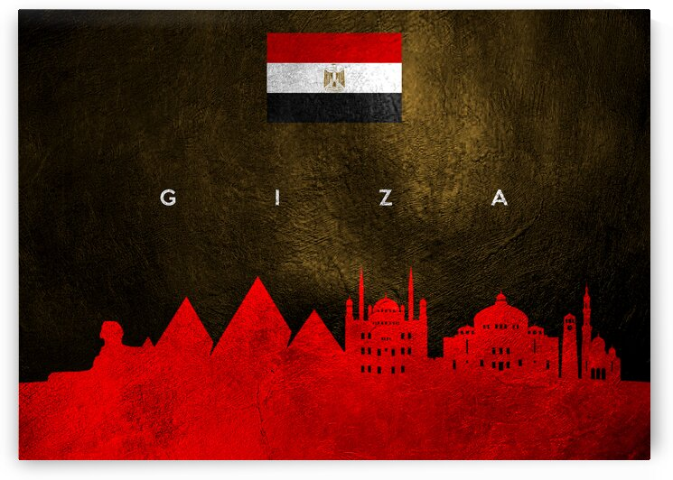 Giza Egypt Skyline Wall Art by ABConcepts