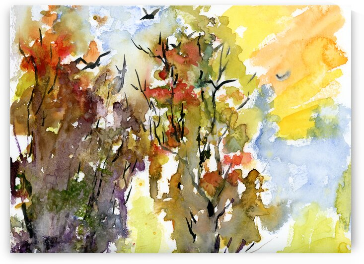 Abstract Autumn Trees 2 by Ginette Fine Art