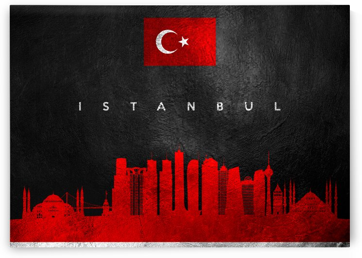 Istanbul Turkey Skyline 2 Wall Art by ABConcepts