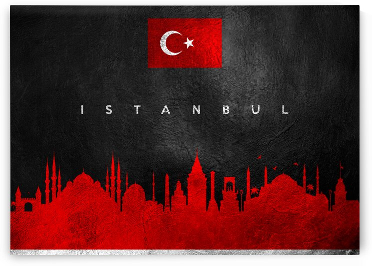Istanbul Turkey Skyline Wall Art by ABConcepts