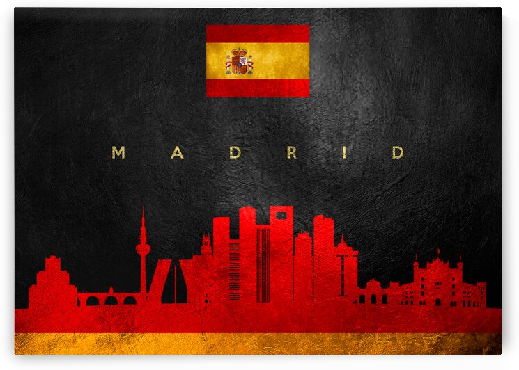 Madrid Spain Skyline Wall Art by ABConcepts