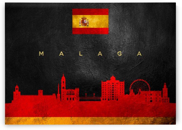 Malaga Spain Skyline Wall Art by ABConcepts