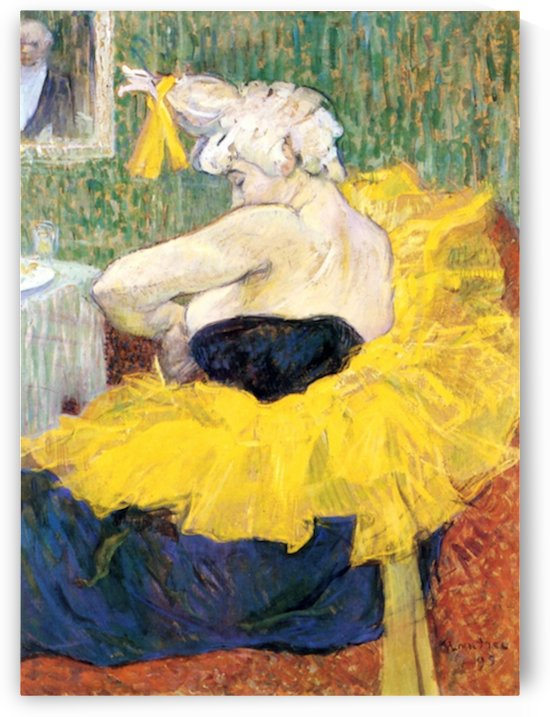 The Clowness Cha U Kao by Toulouse-Lautrec by Toulouse-Lautrec
