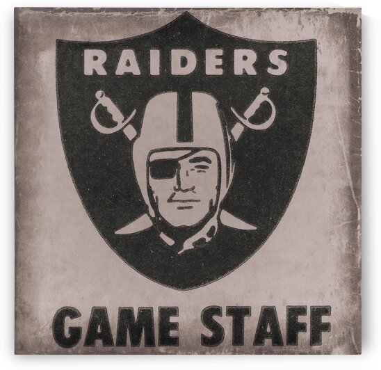 1986 Los Angeles Raiders Game Staff Art by Row One Brand