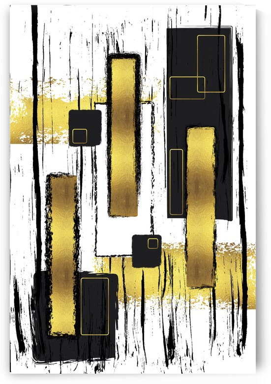 Abstract Painting No. 50 | gold  by Melanie Viola