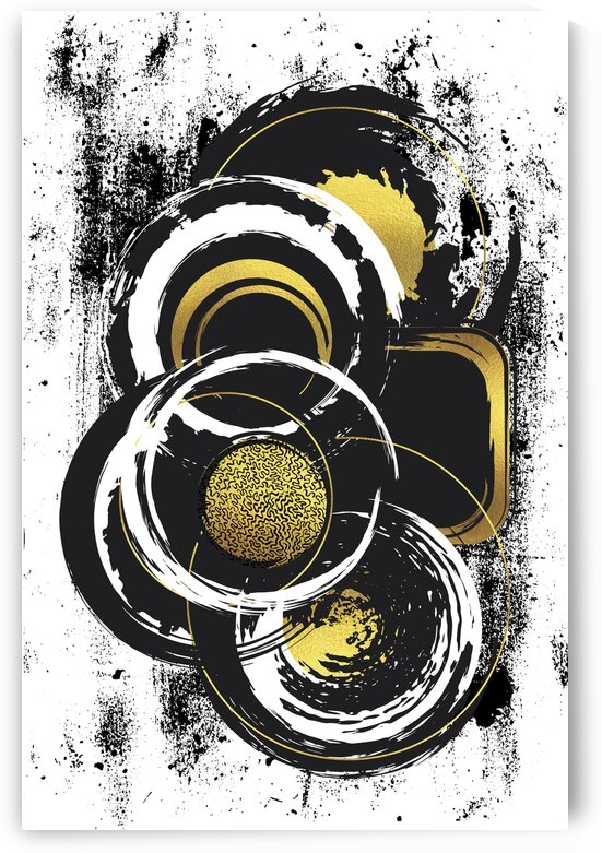 Abstract Painting No. 51 | gold  by Melanie Viola
