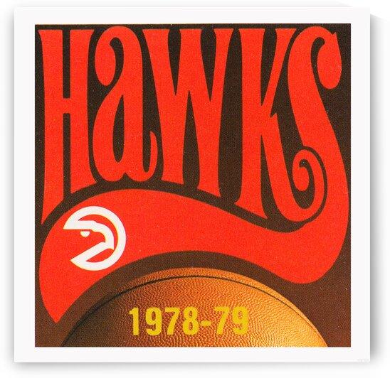 1978 Atlanta Hawks Basketball Poster by Row One Brand