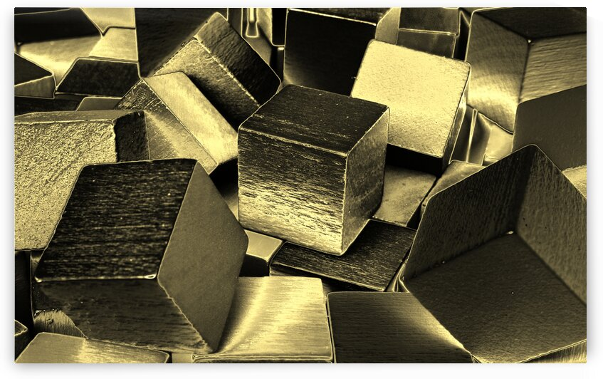 Abstract cubes monochrome by Bentivoglio Photography