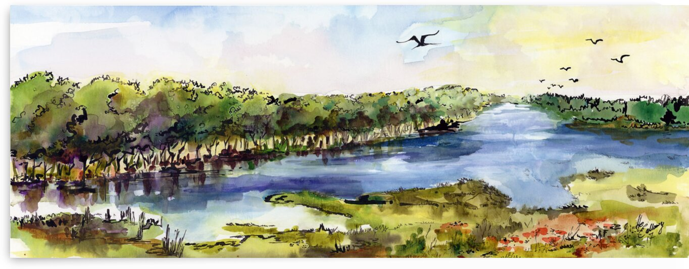 Summer Landscape Panorama by Ginette Fine Art