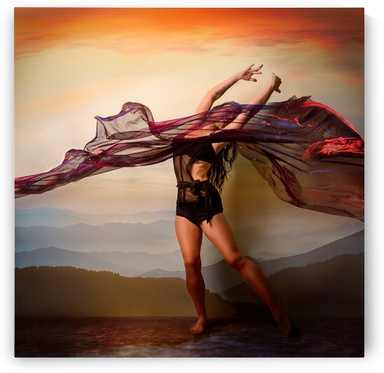 Gina Kaos - Sunset Dancer - Poster by Jay Lamm