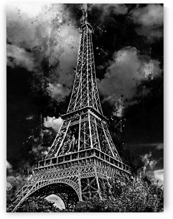 Eiffel Tower BW by Tae