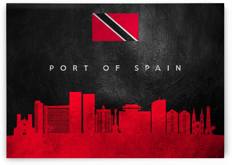 Port of Spain Trinidad and Tobago Skyline Wall Art by ABConcepts