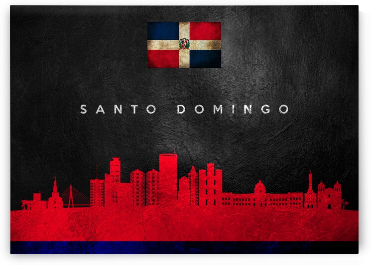Santo Domingo Dominican Republic Skyline Wall Art by ABConcepts