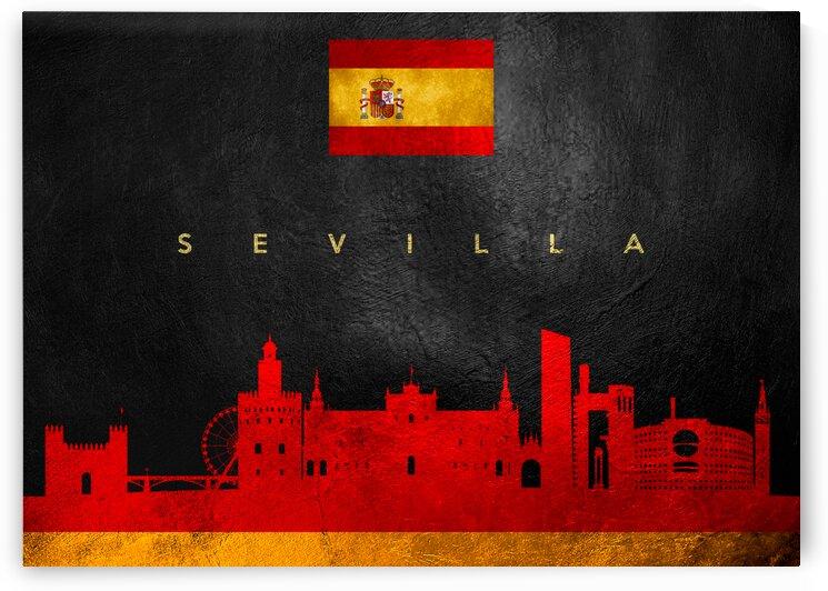 Sevilla Spain Skyline Wall Art by ABConcepts