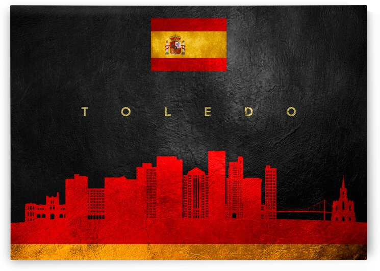 Toledo Spain Skyline Wall Art by ABConcepts
