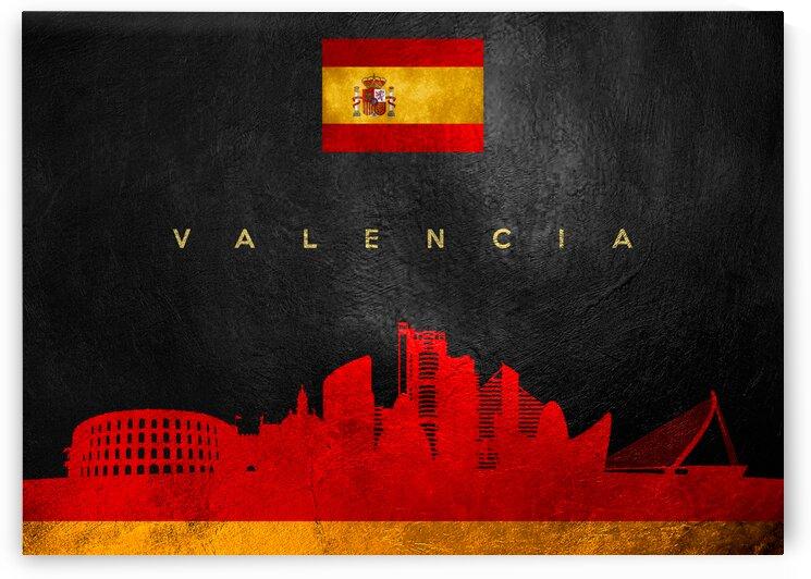 Valencia Spain Skyline Wall Art by ABConcepts