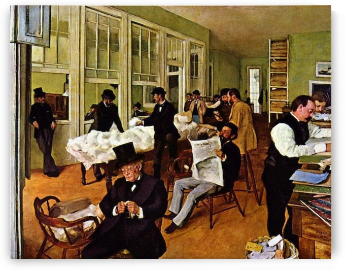 The cotton exchange by Degas by Degas