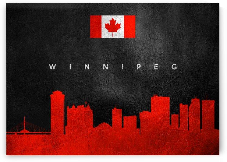 Winnipeg Canada Skyline Wall Art by ABConcepts