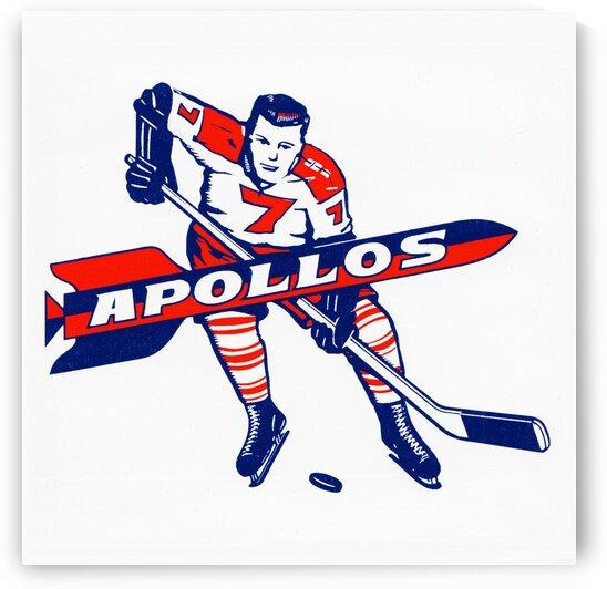 1965 Houston Apollos Hockey Logo Art by Row One Brand