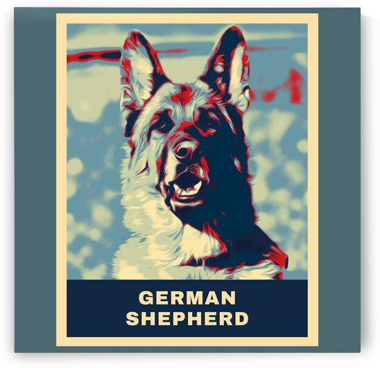 German Shepherd Cartoon  by Vicky Hanggara