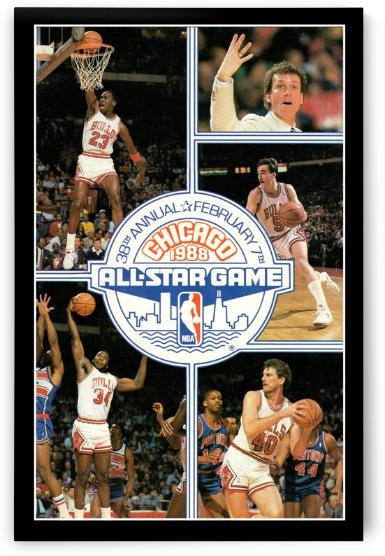 1988 Chicago Bulls All-Star Game Michael Jordan Poster by Row One Brand