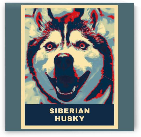 Siberian Husky Cartoon by Vicky Hanggara