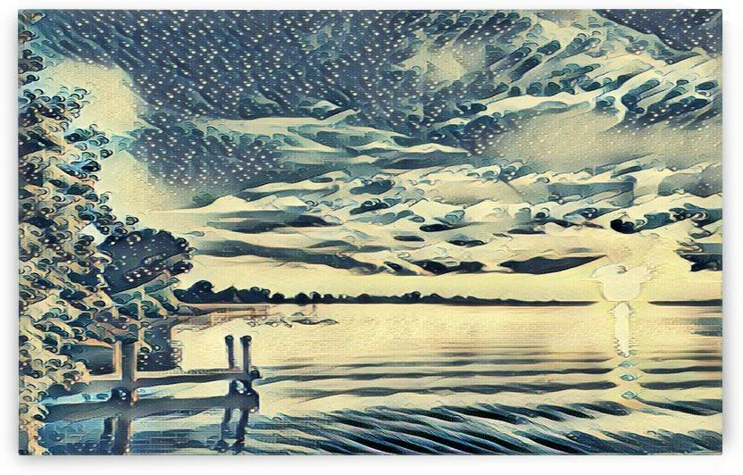 Sunrise  over Lake Erie1 by Flodor