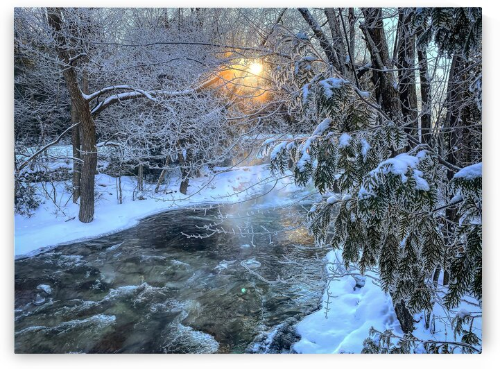 winter magic at Inglis Falls by Amber Vee Photography