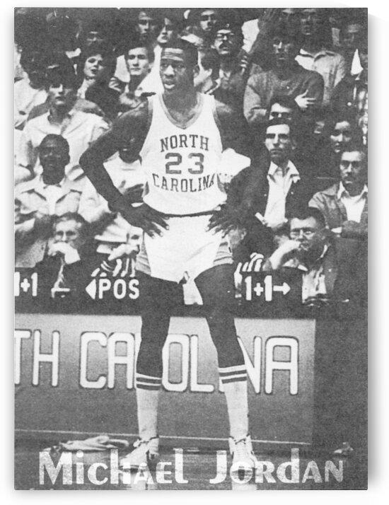 1982 Michael Jordan North Carolina Basketball Poster by Row One Brand