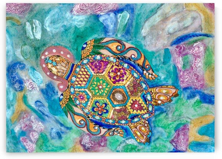 Turtle in the deep  by Zaramar Paintings