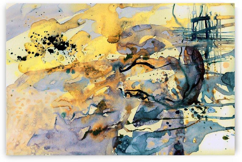 Abstract Molten Maze Beach by Ginette Fine Art
