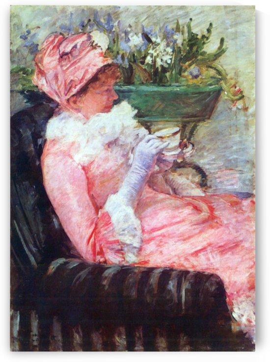 The cup of tea by Cassatt by Cassatt