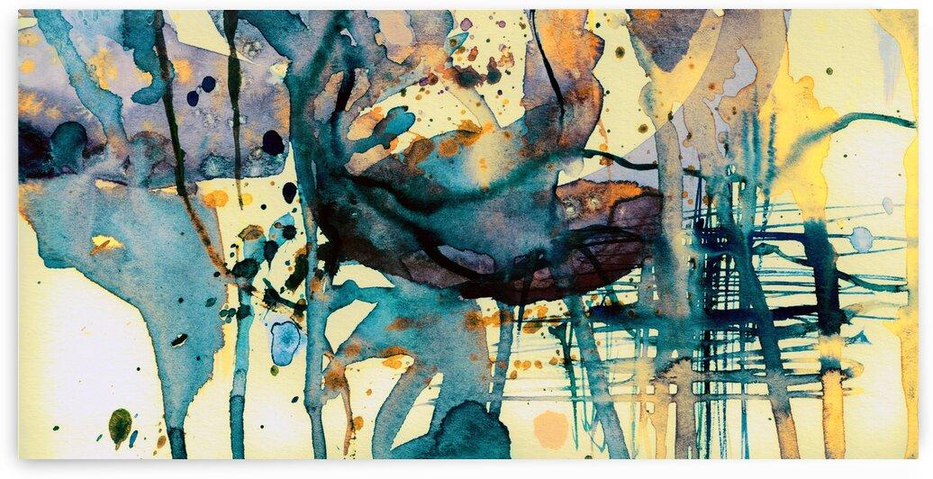 Beach Molten Maze Abstract 1 by Ginette Fine Art
