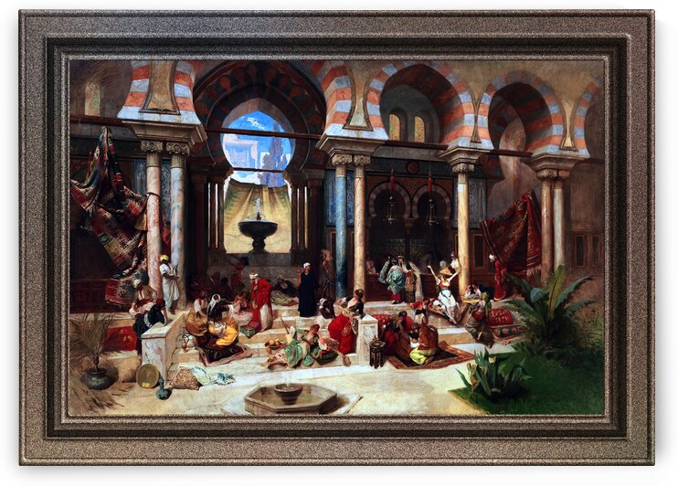 Haremsleben by Franz Xaver Simm Classical Art Old Masters Reproduction by xzendor7