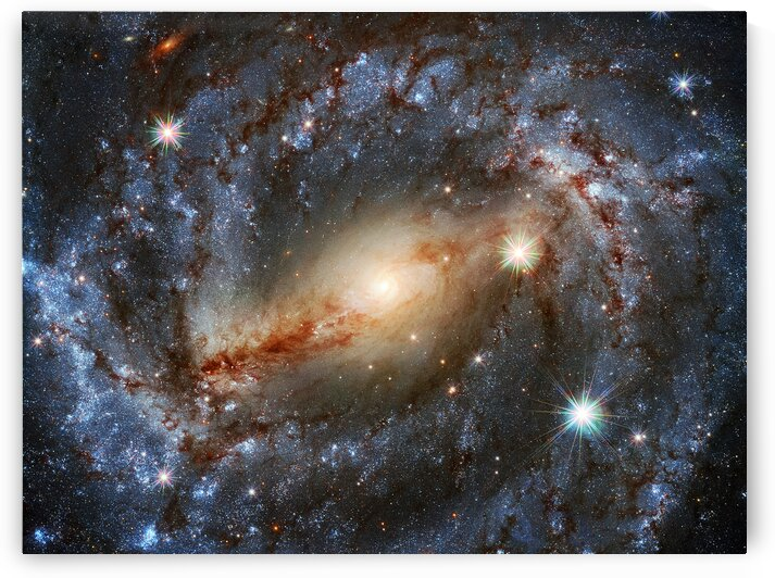 Spiral Galaxy NGC 5643 Outer Space Image by Bill Swartwout Photography