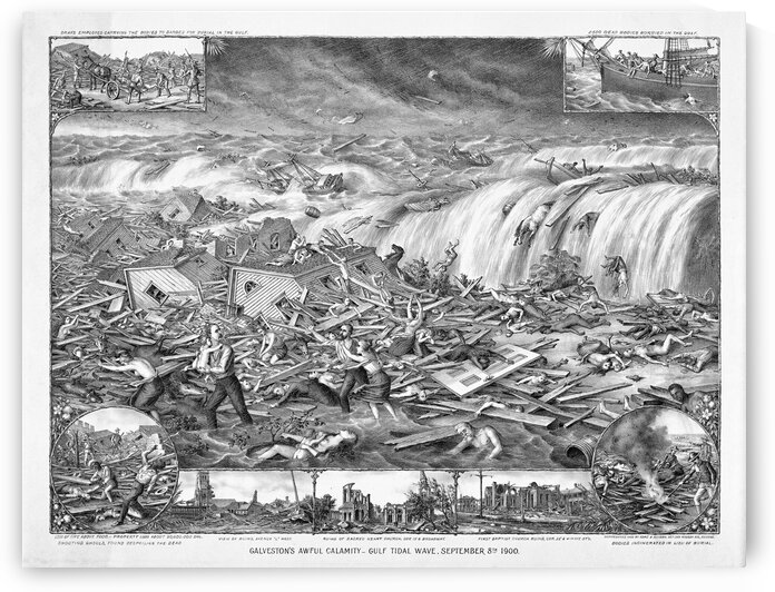 galveston hurricane flood 1900 loc master 05800 05845u by Bill Swartwout Photography