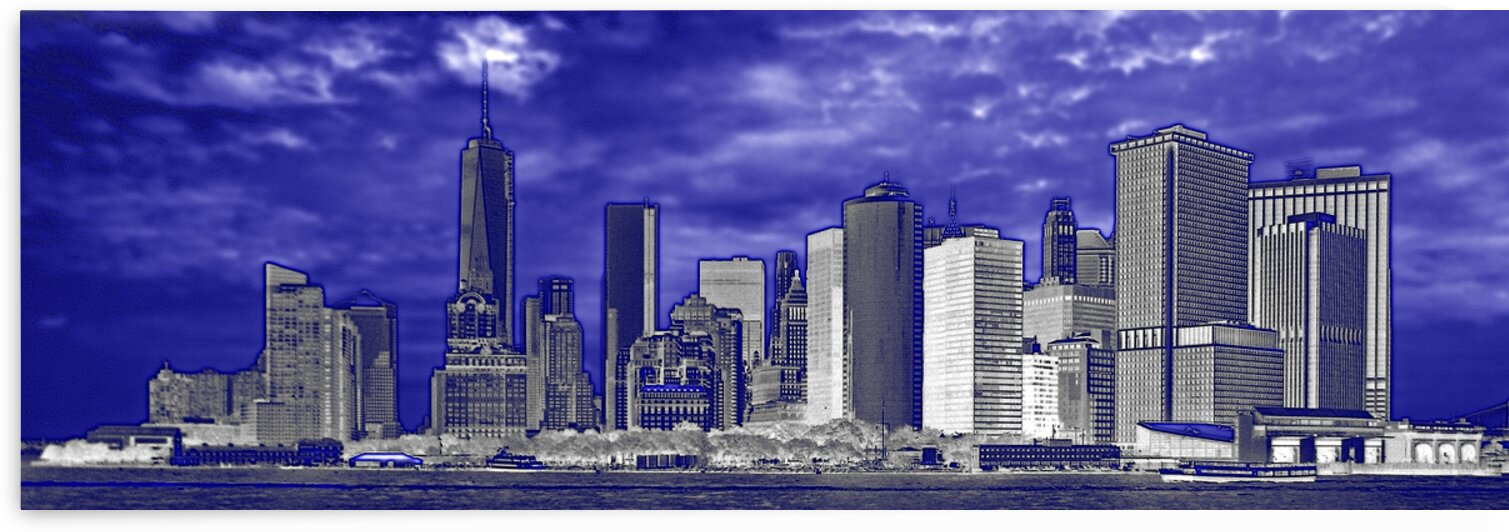 manhattan skyline blue panorama 6093 by Bill Swartwout Photography
