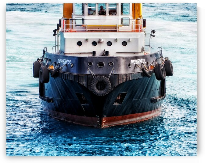 tugboat powerful bow front view 160204 by Bill Swartwout Photography