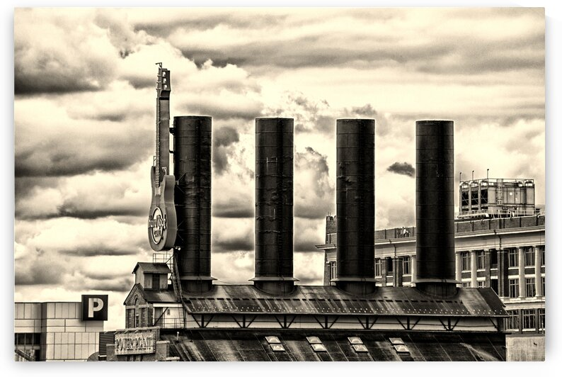 baltimore power plant guitar stacks monochrome 0102 by Bill Swartwout Photography