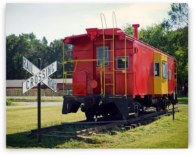red and yellow caboose 040087 by Bill Swartwout Photography