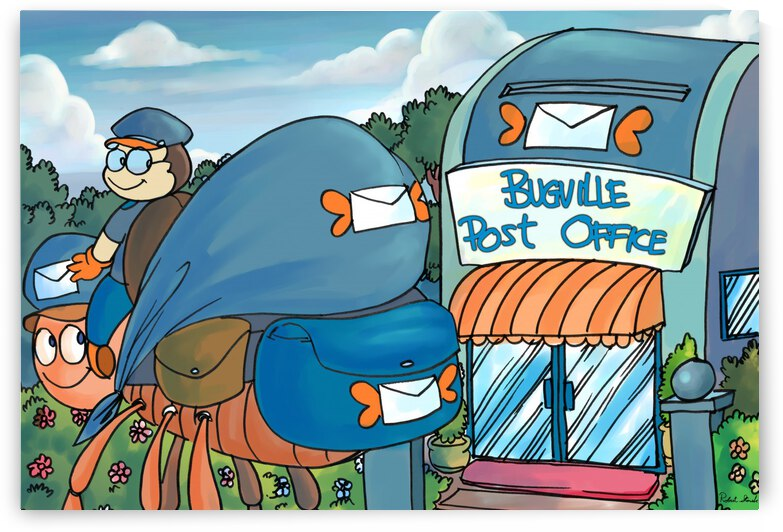 At the Post Office - Places in Bugville Collection 1 of 4 by Robert Stanek