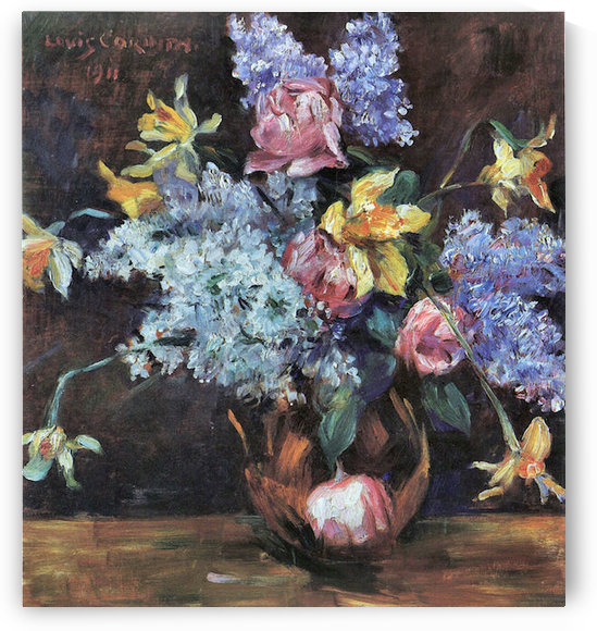 Roses, lilacs and daffodils by Lovis Corinth by Lovis Corinth
