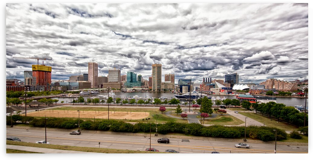 baltimore harbor clouds pan DSC 0077 by Bill Swartwout Photography