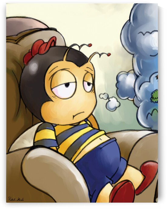 Exhausted - Thoughts on a Long Day - Buster Bee by Robert Stanek