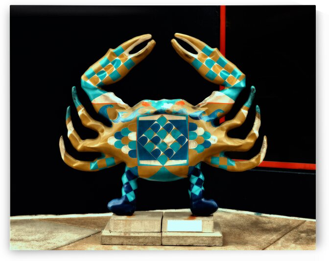 crab statue efex moody red 2891 by Bill Swartwout Photography