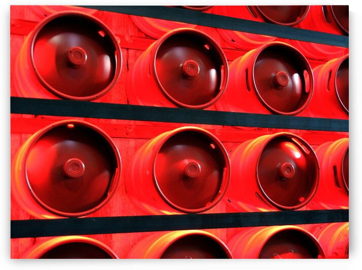 red beer kegs 7892 by Bill Swartwout Photography