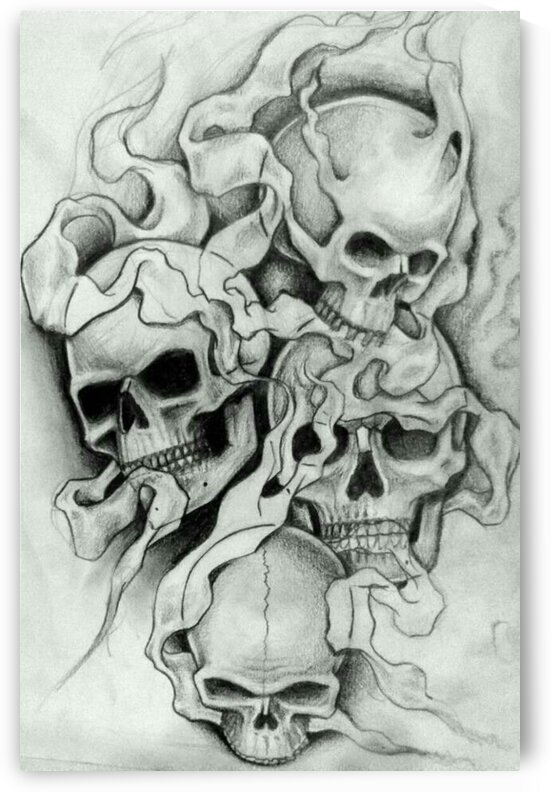 Skull Drawing by RAMPAGE